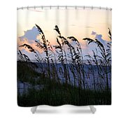 Sea Oats Silhouette Shower Curtain by Kristin Elmquist