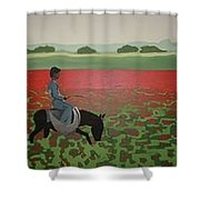 Sea Of Poppy Shower Curtain