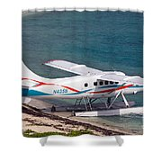 Sea Plane At Dry Tortugas National Park Shower Curtain