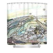 Sea Rock Shower Curtain