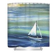 Sea Row Shower Curtain