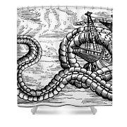 Sea Serpent, 1555 Shower Curtain