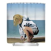Sea Shells On The Beach Shower Curtain