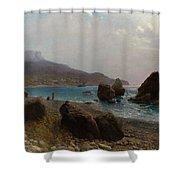 Sea Shore Crimea Shower Curtain