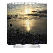 Sea Smoke At Sunrise Shower Curtain