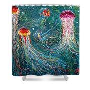 Sea Space Shower Curtain