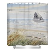 Sea Stack 3 Shower Curtain