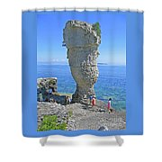 Sea Stack Perspective Shower Curtain