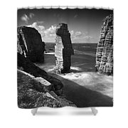 Sea Stacks At Castle Sinclair Girnigoe Shower Curtain