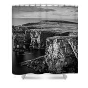 Sea Stacks, Yesnaby, Orkney, Scotland Shower Curtain