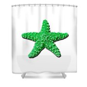Sea Star Green .png Shower Curtain