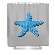 Sea Star Light Blue .png Shower Curtain
