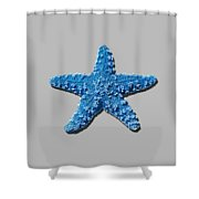 Sea Star Medium Blue .png Shower Curtain