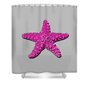 Sea Star Pink .png Shower Curtain