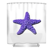 Sea Star Purple .png Shower Curtain