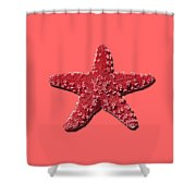 Sea Star Red .png Shower Curtain