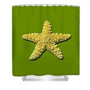 Sea Star Yellow .png Shower Curtain