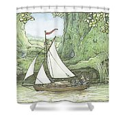 Sea Story Shower Curtain