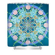 Sea Turtle Mandala  Shower Curtain