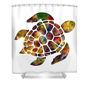 Sea Turtle Shower Curtain by Michael Colgate