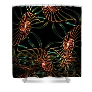 Sea Urchins Shower Curtain
