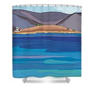 Sea View And Chapel Shower Curtain