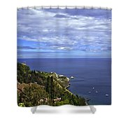 Sea View From Taormina Shower Curtain