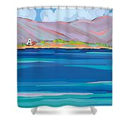 Sea View Galaxidhi Shower Curtain