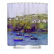 Sea Wall Of North Cornwall Shower Curtain by Susan Maxwell Schmidt