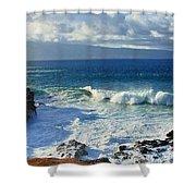 Sea Wave Surf Clouds Coast 46713 300x532 Shower Curtain