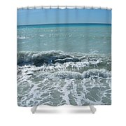 Sea Waves In Italy Shower Curtain