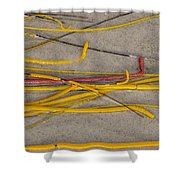 Sea Whip Coral Shower Curtain