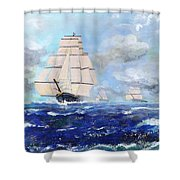 Sea Witch Leaving Port Shower Curtain