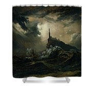 sea with Lighthouse Shower Curtain