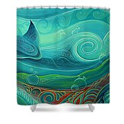 Seabed By Reina Cottier Shower Curtain