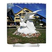 Seabird Statue Shower Curtain