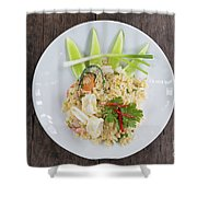 Seafood Fried Rice Shower Curtain