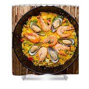 Seafood Paella  Shower Curtain