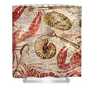 Seafood Restaurant Postcard Shower Curtain