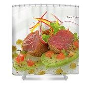 Seafood Tuna Yellow Fin Maldives Shower Curtain
