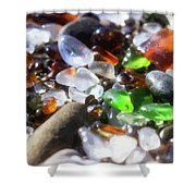 Seaglass Background Shower Curtain
