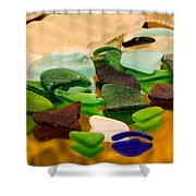 Seaglass Reflections Shower Curtain