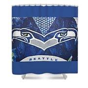 Seahawks Helmet Shower Curtain by Candace Shrope