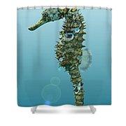 Seahorse 3d Render Shower Curtain