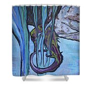 Seahorse Anchored Shower Curtain