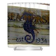 Seahorse Est. 1934 Shower Curtain