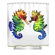 Seahorse Love Shower Curtain