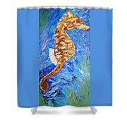 Seahorse Number 1 Shower Curtain