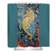 Seahorse Number 2 Shower Curtain