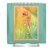 Seahorse Pink Shower Curtain